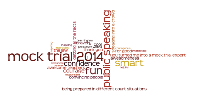 Mock trial word cloud